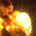 Antares Rocket Explosion from Press Site