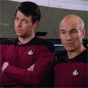 Picard and Riker Cool Guy Walk