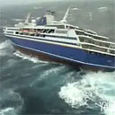 Cruise Ship Caught in Cyclone