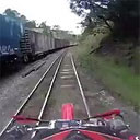 Dirt Biking on the Wrong Side of the Tracks
