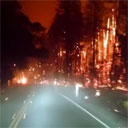 Driving Through a California Forest Fire