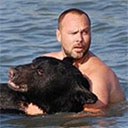 Man (Possible Bear) Rescues Drowning Bear