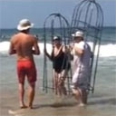 Couple Tries Out Homemade Shark (Drowning) Cages