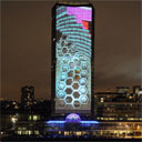 deadmau5 Millbank Tower 3D Projection