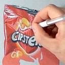 Photo Realistic Drawing of a Chip Bag