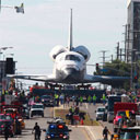 Space Shuttle Traverses Los Angeles
